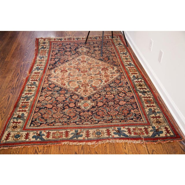 "Antique Bijar Area Rug - 5'4"" X 6'8"" - Image 10 of 10"