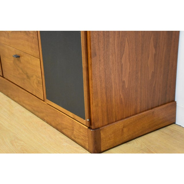 Walnut and Black Vinyl Armoire Dresser - Image 9 of 11