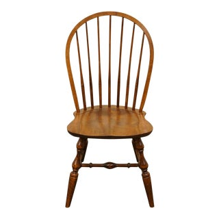Late 20th Century Vintage Nichols & Stone Bowback Windsor Dining Chair For Sale