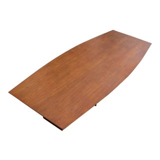 Massive Edward Wormley for Dunbar Walnut and Mahogany Dining / Conference Table For Sale
