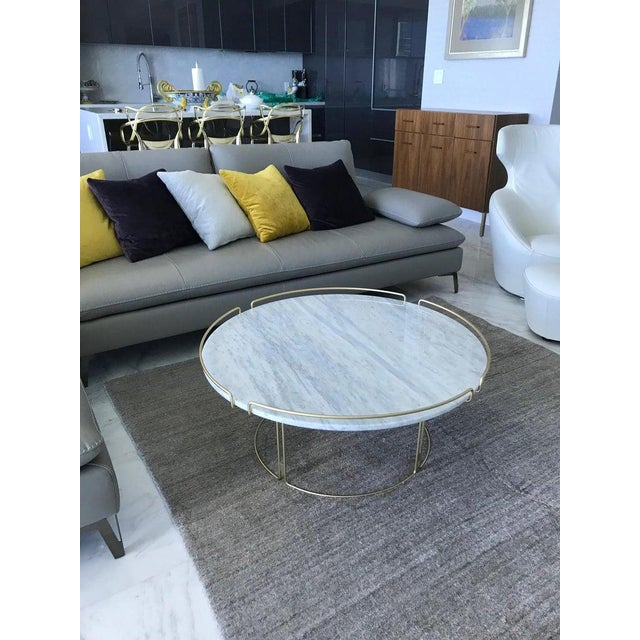Roche Bobois The Bijou Coffee Table in Marble and Matte Gold by Roche Bobois, 2018 For Sale - Image 4 of 13
