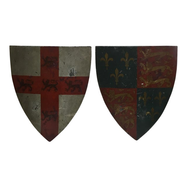19th Century English Shields - A Pair - Image 1 of 10