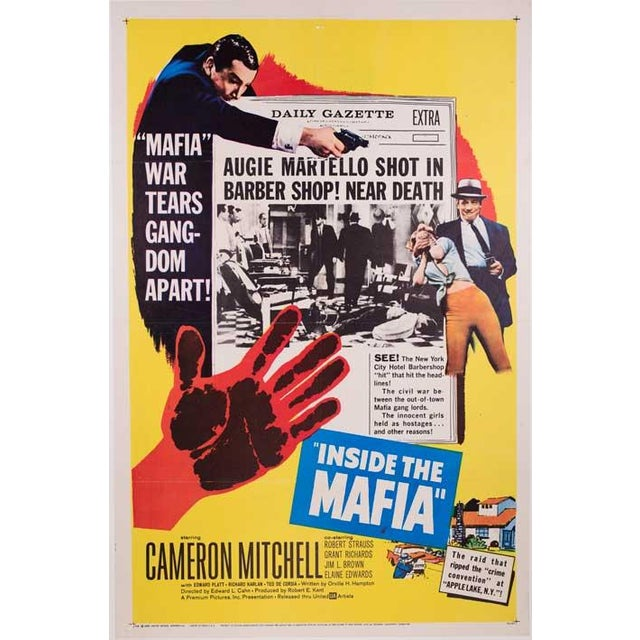 Inside the Mafia Linen-Mounted 1959 Poster - Image 2 of 2