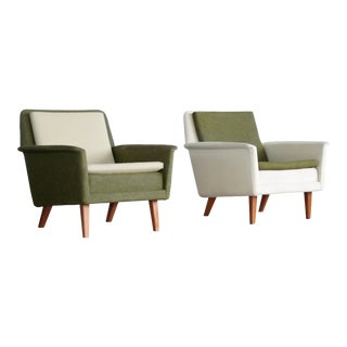 Pair Folke Ohlsson Model 5451 Lounge Chairs for Fritz Hansen Danish Mid-Century For Sale