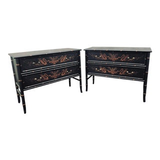 1990s Chinoiserie Side Chests - a Pair For Sale