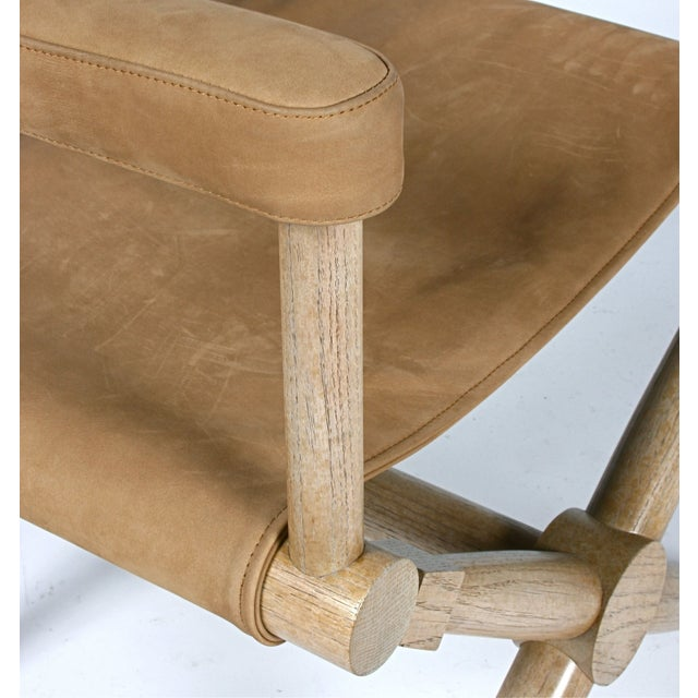 Pair of Suede Director's Chairs For Sale - Image 7 of 7