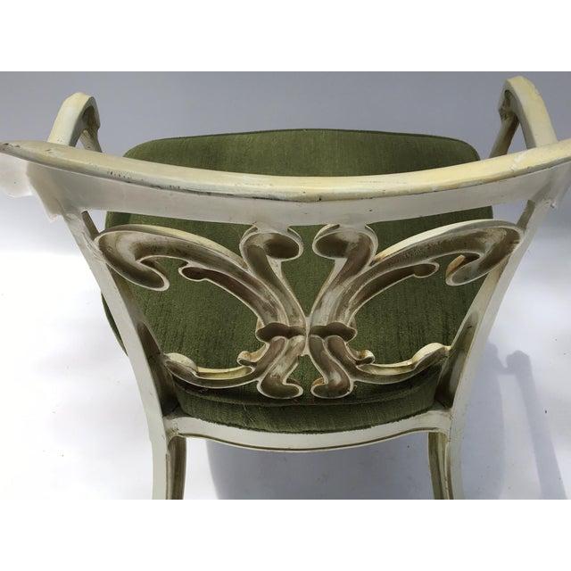 Dorothy Draper Kessler Cast Aluminum Patio Dining Chairs - Set of 5 - Image 7 of 8