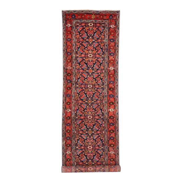 Antique Persian Malayer Runner with Modern Style For Sale