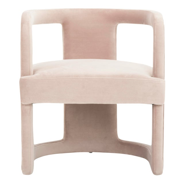 Rory Side Chair in Rosa Pink For Sale