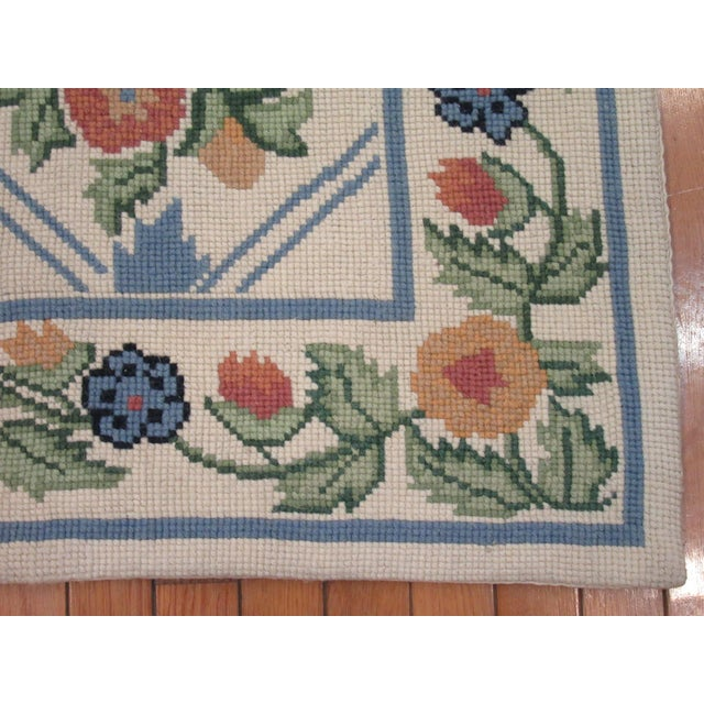 Handmade Needlepoint Rug - 6' x 9' For Sale - Image 4 of 7