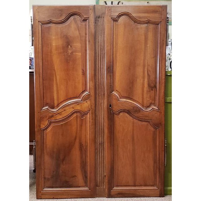 Pair of Mid 19th Century French Walnut Door Panels C.1850s For Sale - Image 4 of 13
