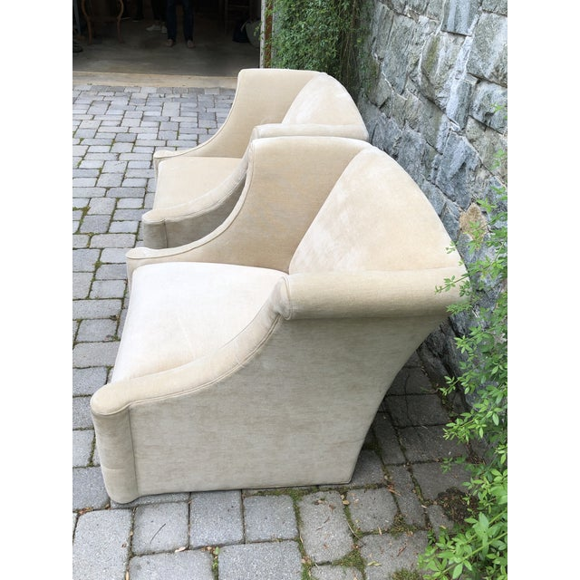 Kellogg Collection Modern Upholstered Lounge Chairs- A Pair For Sale - Image 4 of 12