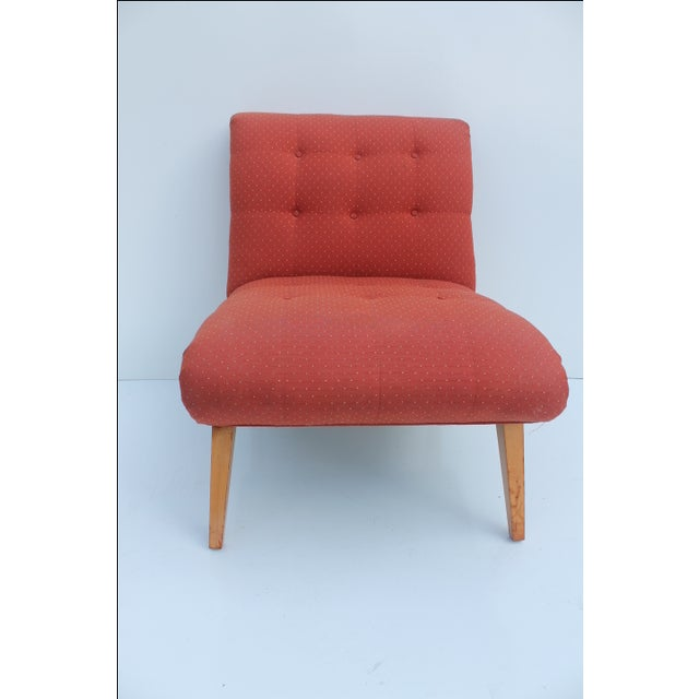 Jens Risom for Knoll Red Slipper Chair For Sale - Image 7 of 11
