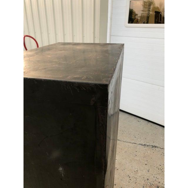 Brass Vintage Industrial Green Steel Filing Cabinet For Sale - Image 7 of 13