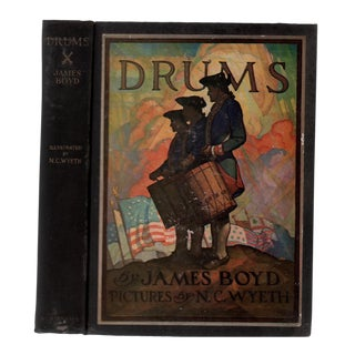 "1928 ""First Edition, Drums, Illustrated by n.c. Wyeth"" Collectible Book For Sale"
