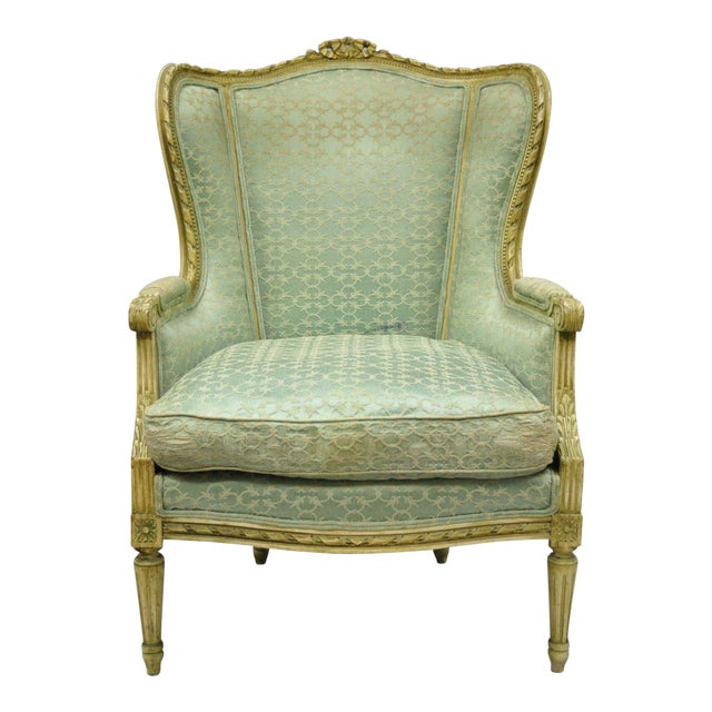Early 20th Century Antique French Louis XVI Style Bergere Chair - Early 20th Century Antique French Louis XVI Style Bergere Chair