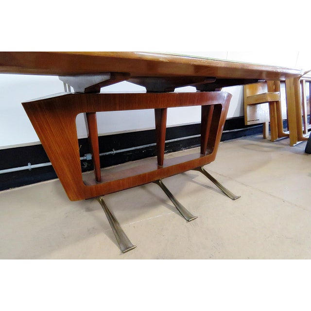 Italian Modern Walnut Dining Table For Sale - Image 10 of 11
