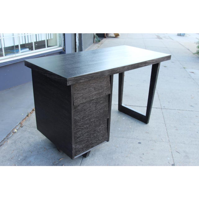 Morris of California Architectural Oak Desk For Sale - Image 10 of 11