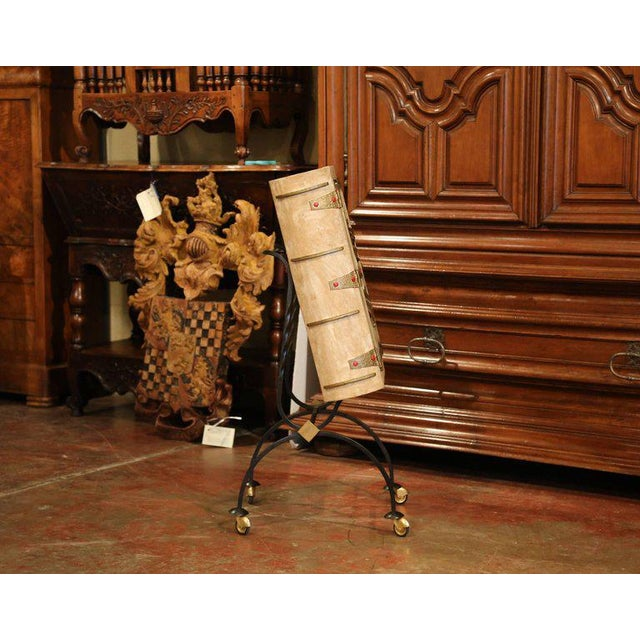Mid-20th Century French Art Deco Leather and Iron Book Shape Liquor Bar Cabinet For Sale In Dallas - Image 6 of 9