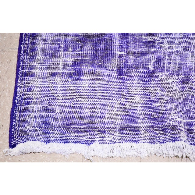 """Vintage Turkish Anatolian Overdyed Hand Knotted Organic Wool Fine Weave Rug,6'9""""x10'6"""" For Sale - Image 4 of 5"""