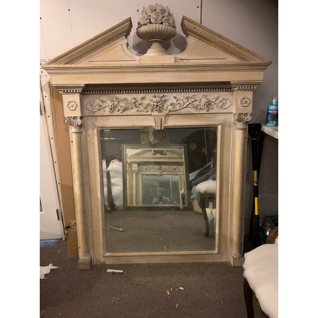 Mid-19th Century Architectural Mirror With Carved Fruit For Sale - Image 9 of 9