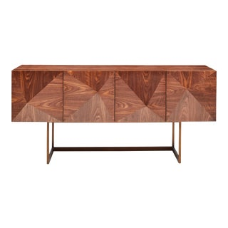 Cube Sideboard in Brown For Sale
