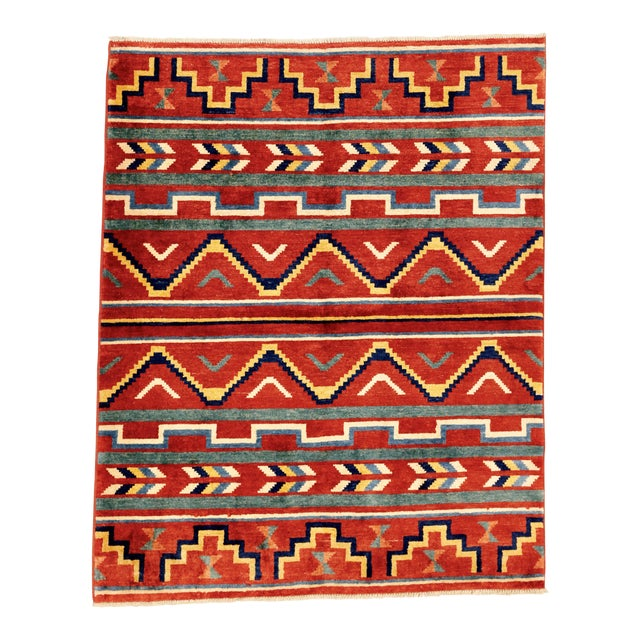 Southwest Pueblo Style Rug - 5′1″ × 6′5″ For Sale