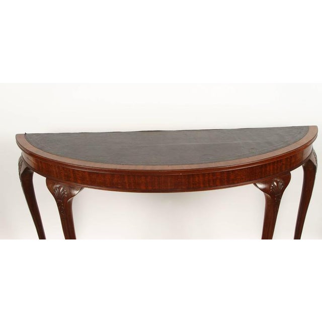 Animal Skin 19th Century English demilune table For Sale - Image 7 of 10