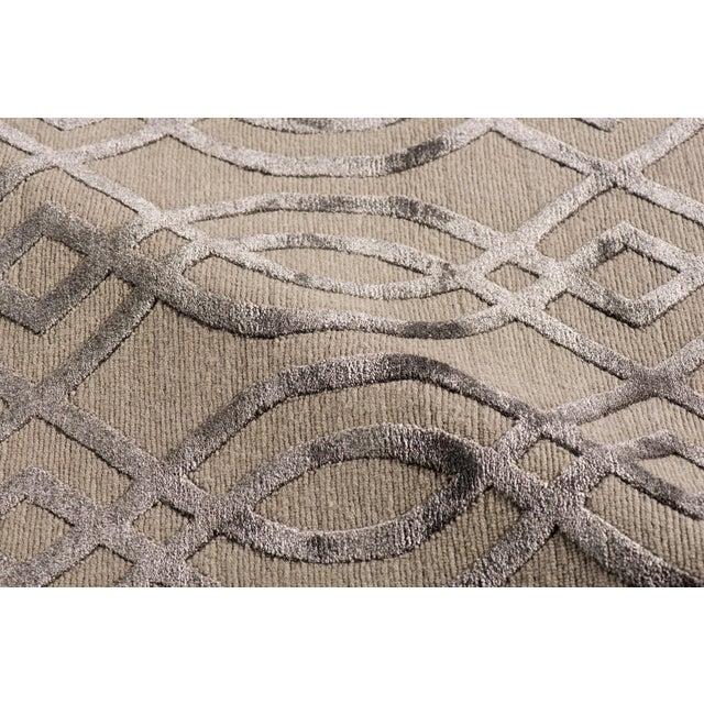Stark Studio Rugs Stark Studio Rugs Contemporary Ridgemore Oak Silk Rug - 9′1″ × 11′11″ For Sale - Image 4 of 5
