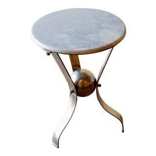 Vintage Scuptural Marble Side Table For Sale