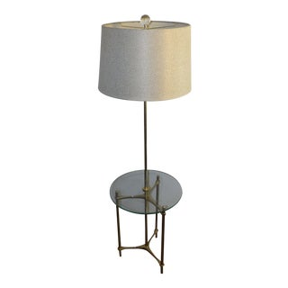 1960s Mid Century Modern Laurel Lamp Company Brass Tripod Floor Lamp For Sale