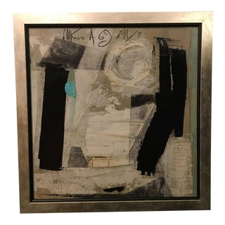 1960s Vintage Abstract Painting by Graham Harman For Sale