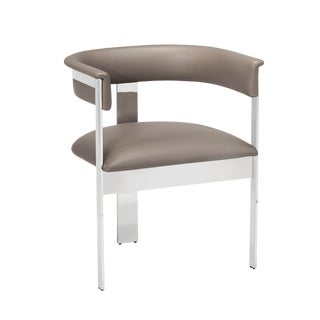 Darcy Dining Chair - Grey/ Nickel For Sale