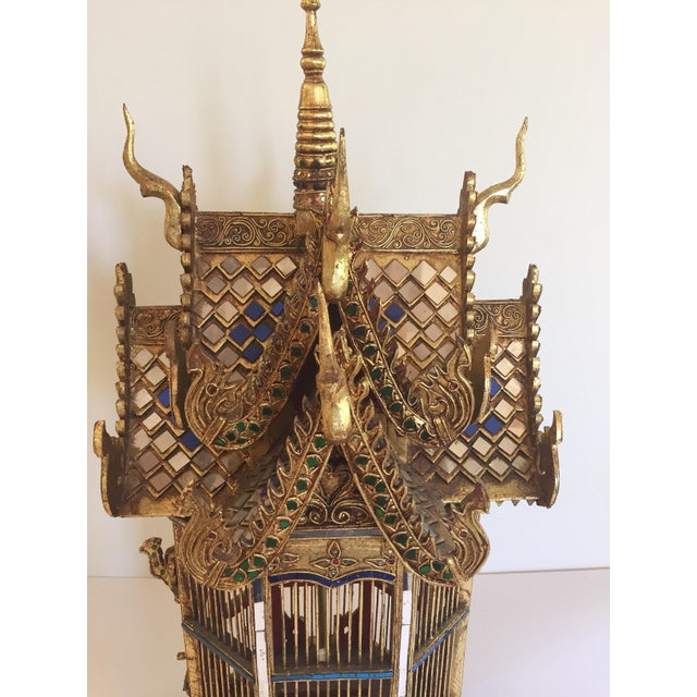 Asian Spirit House Thai Shrine Temple Bird Cage For Sale In Los Angeles - Image 6 of 12
