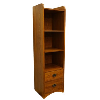 20th Century Traditional Thomasville Furniture Impressions Collection Oak Accent Pier Bookcase Preview