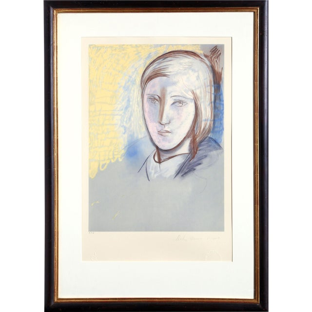 "Pablo Picasso ""Portrait of Marie Therese Walter"" Lithograph For Sale"