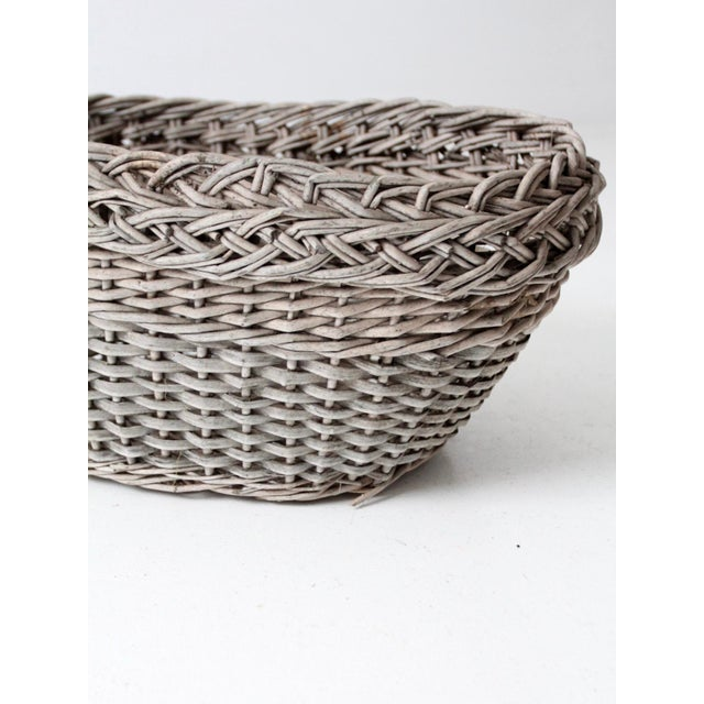 Antique Wicker Basket For Sale - Image 11 of 12