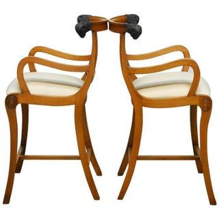 Italian Klismos Style Bar Stools - A Pair