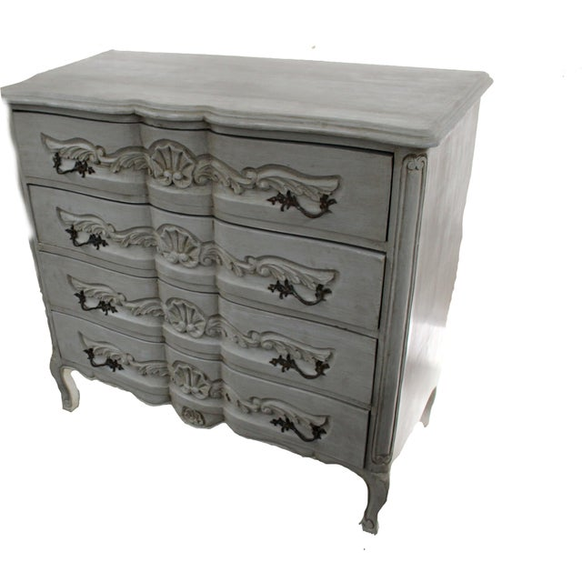 20th Century Vintage French Baroque Style Chest For Sale - Image 4 of 7