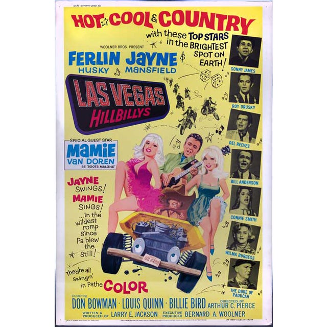 Las Vegas Hillbillies Giant 1966 Movie Poster - Image 2 of 2