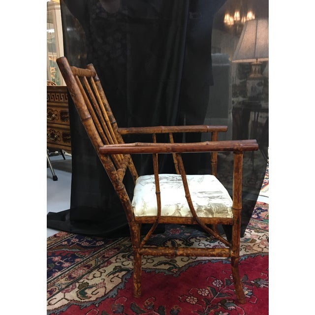English Traditional Antique English Victorian Brighton Bamboo Chair For Sale  - Image 3 of 7 - Antique English Victorian Brighton Bamboo Chair Chairish