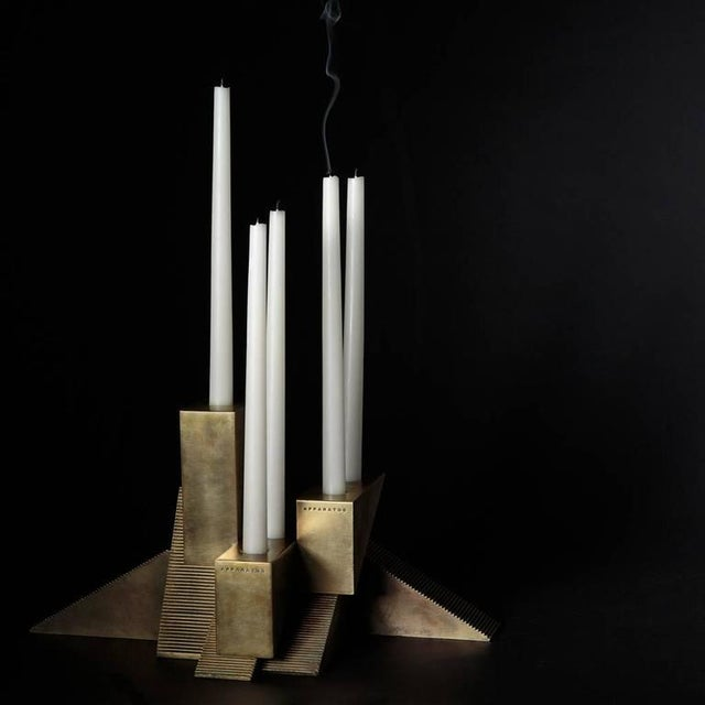 Contemporary Candle Blocks by APPARATUS For Sale - Image 3 of 6