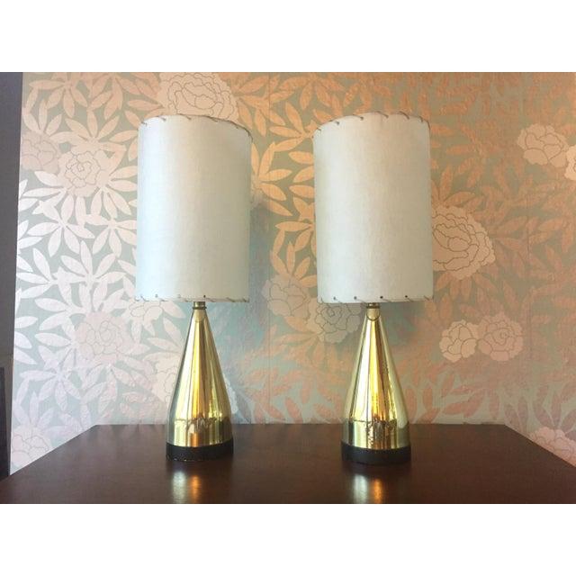 Mi-Century Brass Danish Lamps - A Pair - Image 2 of 8