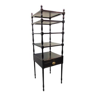 Sheraton Solid Mahogany Etagere For Sale