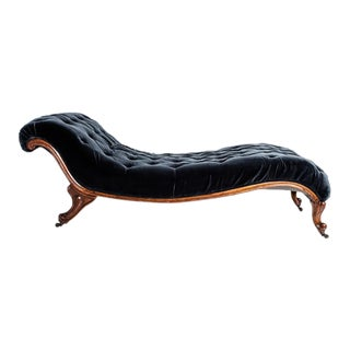TUFTED CHAISE LOUNGE For Sale