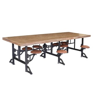 Industrial Swing Stool Table For Sale