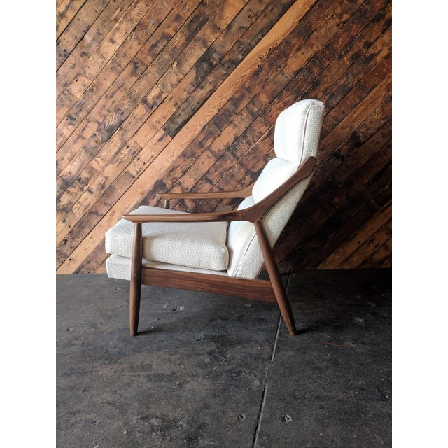 Brown Custom Danish Mid Century Style Lounge Chair For Sale - Image 8 of 9
