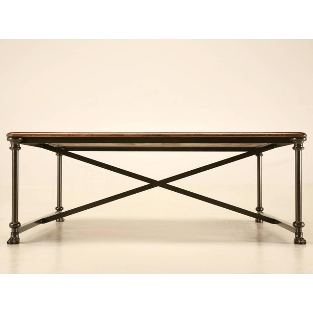 Coffee or Cocktail Table With Steel and Bronze Base For Sale - Image 10 of 10
