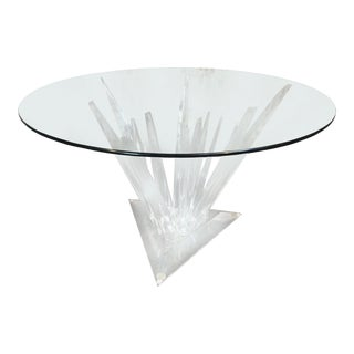 Lucite Stalagmite Dining Table in the Manner of Haziza For Sale