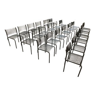 Brown David Rowland Thonet Sof-Tek Side Chairs & Cart For Sale